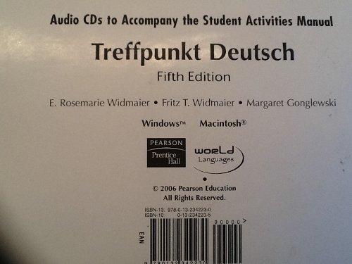 9780132342230: Treffpunkt Deutsch: Audio CDs for Student Activities Manual: Grundstufe (English and German Edition)
