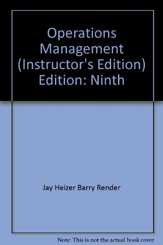 9780132343022: Operations Management- Instructor's Review Copy, 9th