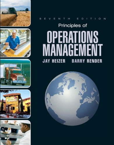 9780132343282: Principles of Operations Management: United States Edition