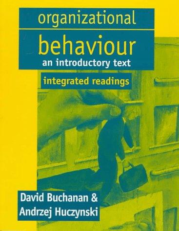 9780132343459: Organizational Behaviour: Integrated Readings