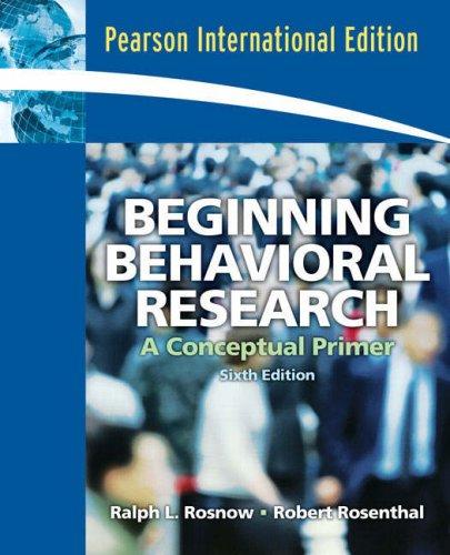 9780132343510: Beginning Behavioral Research: A Conceptual Primer