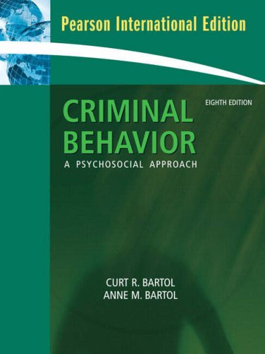 9780132344159: Criminal Behavior: A Pyschosocial Approach