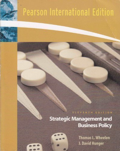 International Edition of Strategic Management and Business: Thomas Wheelen