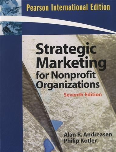 9780132345545: Strategic Marketing for Non-Profit Organizations: International Edition