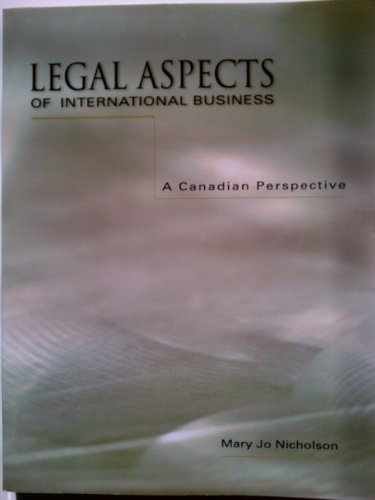9780132346344: Legal Aspects of International Business: A Canadian Perspective
