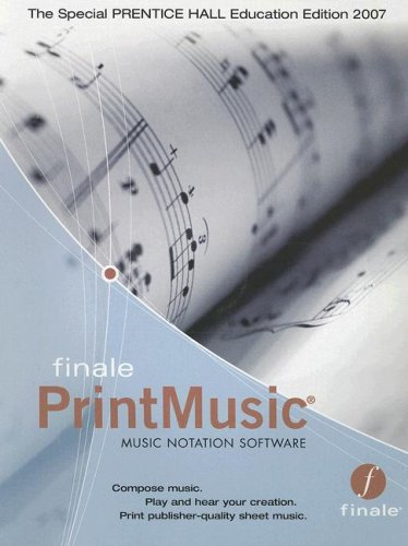 9780132348348: Finale PrintMusic Music Notation Software for Elementary Harmony: Theory and Practice