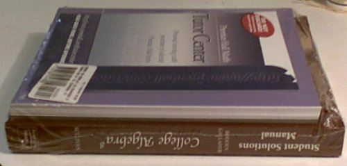9780132348362: Student Study Pack: College Algebra - Student Solutions Manual, Algebra Review - Third Edition, Tutor Center Access Code