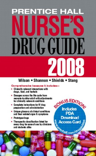 9780132352062: Prentice Hall Nurse's Drug Guide 2008-Retail Edition (Pearson Nurse's Drug Guide (Retail Edition))