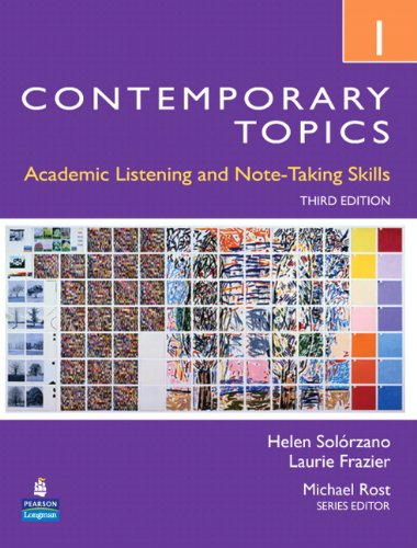 9780132355704: Contemporary Topics 1: Academic Listening and Note-Taking Skills, 3rd Edition