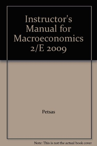 9780132356374: Instructor's Manual for Macroeconomics 2/E 2009