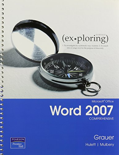 9780132356619: Exploring Microsoft Offc07 Wrd&studt CD Pkg