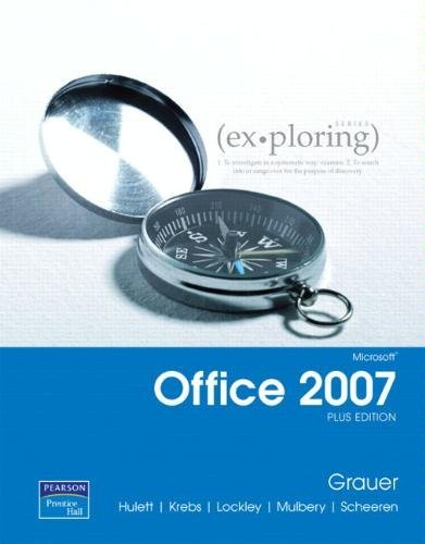 9780132356633: Exploring MS Office Excel 2007 Comprehensive: W/Student Resource CD