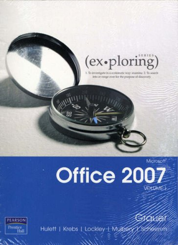 9780132356688: Exploring Microsoft Office 2007 Volume 1 with Exploring Microsoft Office 2007 Vol 1 Student CD: v. 1