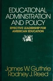 9780132356725: Educational Administration and Policy