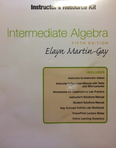 Instructor's Resource Kit, Intermediate Algebra 5th Edition