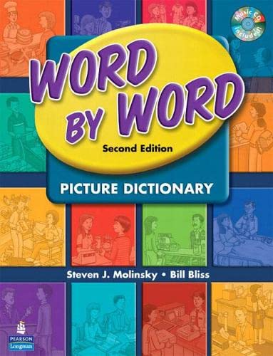 9780132358385: Word by Word Picture Dictionary with WordSongs Music CD (2nd Edition)