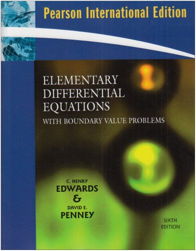 9780132358811: Elementary Differential Equations with Boundary Value Problems: International Edition