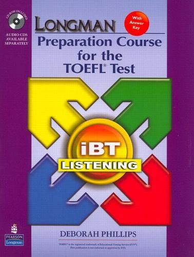9780132360890: iBT Listening: Longman Preparation Course for the Toefl Test