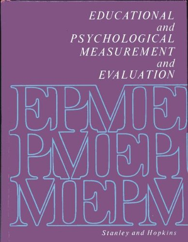 9780132362818: Educational and psychological measurement and evaluation (Prentice-Hall series in educational measurement, research, and statistics)