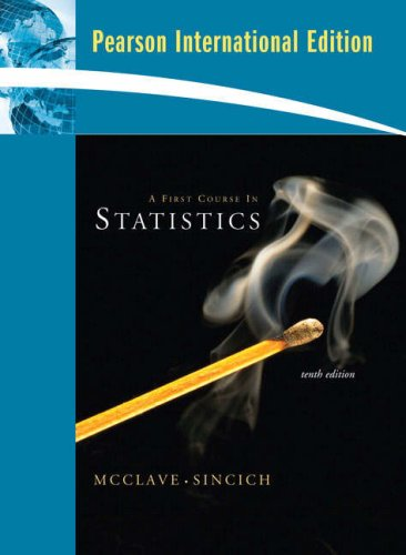 9780132363433: A First Course in Statistics