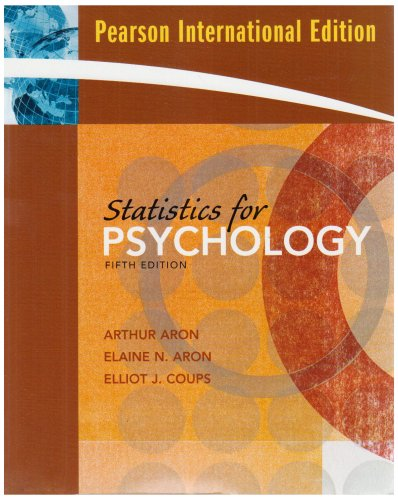 9780132365024: Statistics for Psychology
