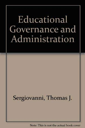 9780132365895: Educational Governance and Administration