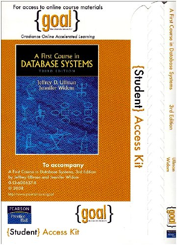 9780132366458: GOAL - Standalone Access Card - for First Course in Database Systems