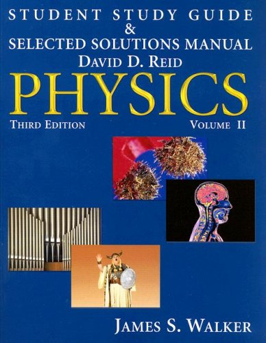 9780132369633: Student Study Guide & Selected Solutions Manual - Physics, Volume 2 (v. 2)