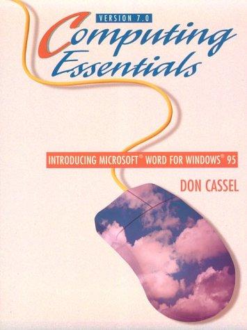 9780132370172: Word 7.0 (Computing essentials for Windows 95)
