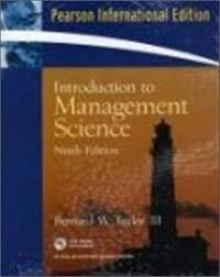 9780132371193: PEARSON INTERNATIONAL EDITION: Introduction to Management Science, 9th Edition with CD-ROM