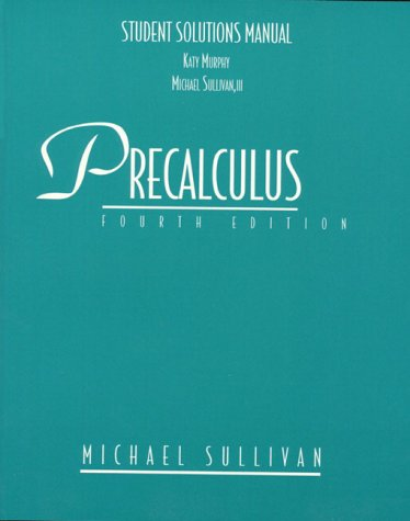 9780132372152: Precalculus: Student Solutions Manual