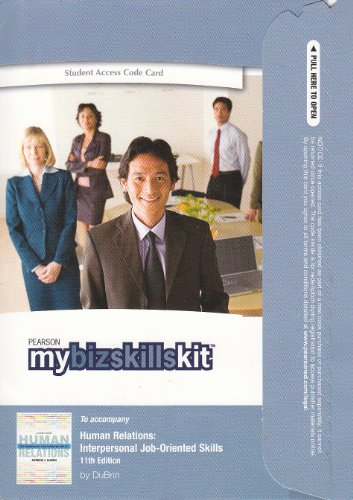 9780132376310: MyBizSkillsKit -- Standalone Access Card -- for Human Relations: Interpersonal and Job-Oriented Skills