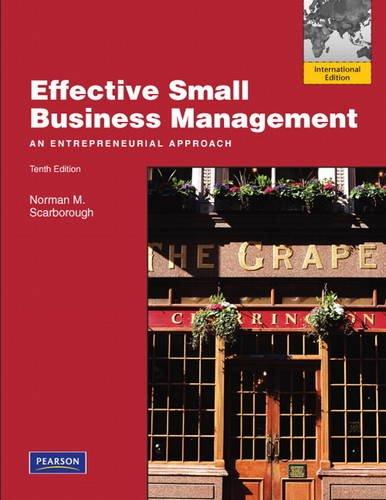 9780132378154: Effective Small Business Management: International Edition