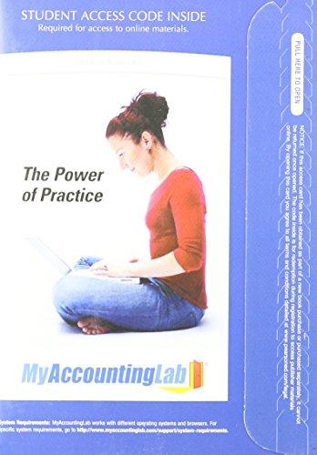 9780132378529: Myaccountinglab With Pearson Etext Access Card