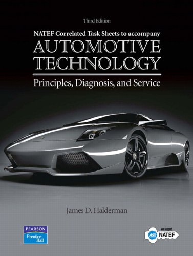 9780132379441: NATEF Correlated Job Sheets for Automotive Technology: Principles, Diagnosis, and Service
