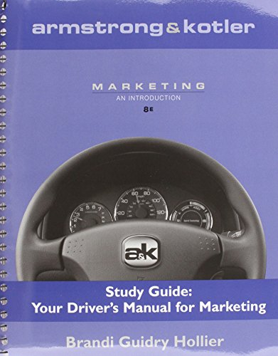 9780132380522: Armstrong & Kotler Marketing Study Guide: Your Driver's Manual for Marketing