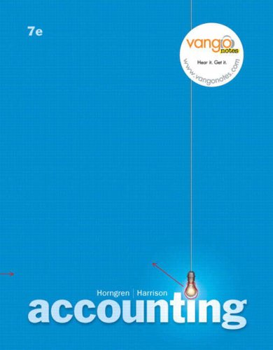 9780132382632: Accounting: Study Guide Ch. 1-17