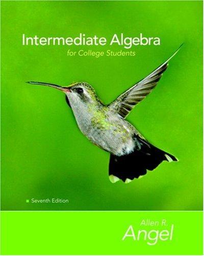 9780132383578: Intermediate Algebra for College Students (The Angel Developmental Algebra Series)