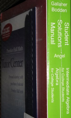 9780132384056: Student Solutions Manual for Intermediate Algebra for College Students