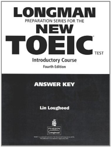 9780132389617: Longman Preparation Series for the New TOEIC Test: Introductory Course (with Answer Key), with Audio CD and Audioscript Answer Key