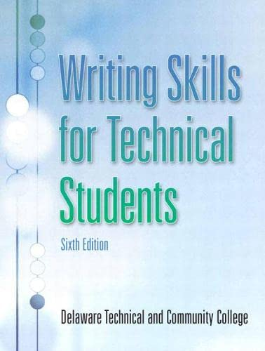 Writing Skills for Technical Students: Delaware Technical and