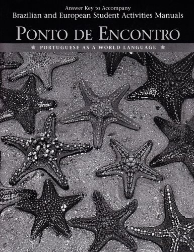 9780132393461: Ponto de Encontro: Answer Key to Student Activities Manual: Portuguese as a World Language