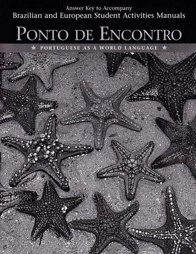 9780132393461: Answer Key to Student Activities Manual for Ponto de Encontro: Portuguese as a World Language