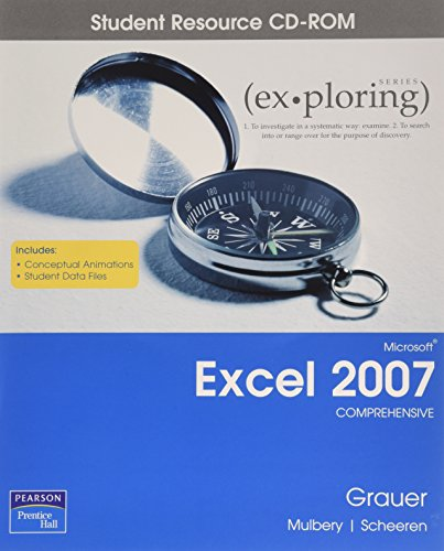 9780132394093: Exploring Microsoft Excel 2007: Comprehensive Student CD