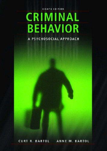 9780132394215: Criminal Behavior: A Pyschosocial Approach
