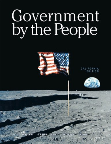 9780132394994: Government by the People, California Edition (22nd Edition)