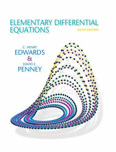 9780132397308: Elementary Differential Equations (6th Edition)