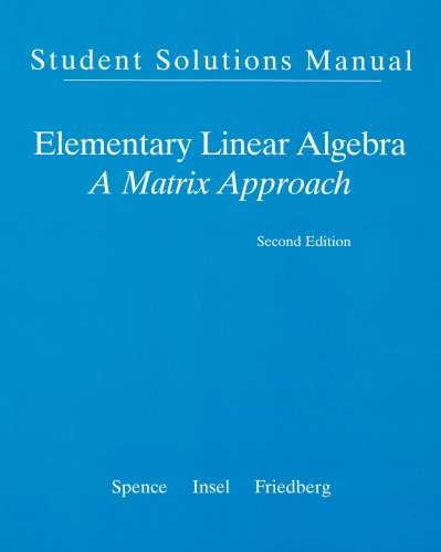 9780132397346: Student Solution Manual for Elementary Linear Algebra