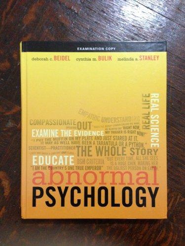 9780132397964: Abnormal Psychology (Examination Copy) Edition: Reprint