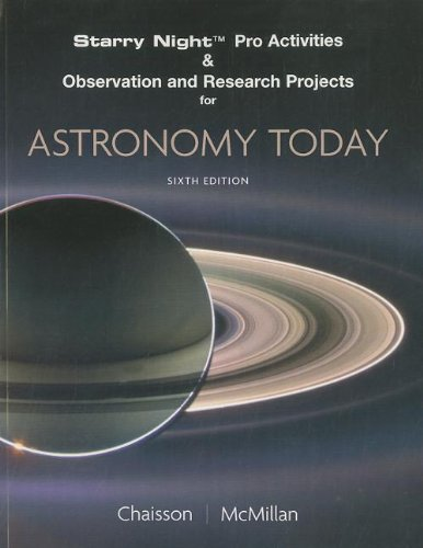 9780132400978: Starry Night Pro Activities & Observation and Research Projects for Astronomy Today